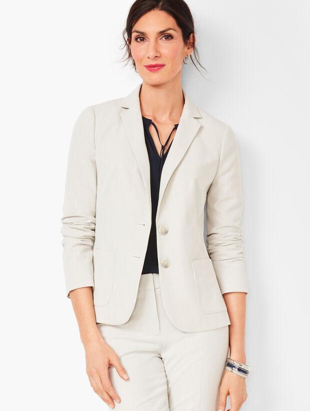 Corded-Stripe Two-Button Blazer