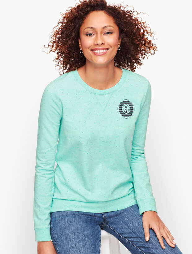 French Terry Sweatshirt - Spring Mint