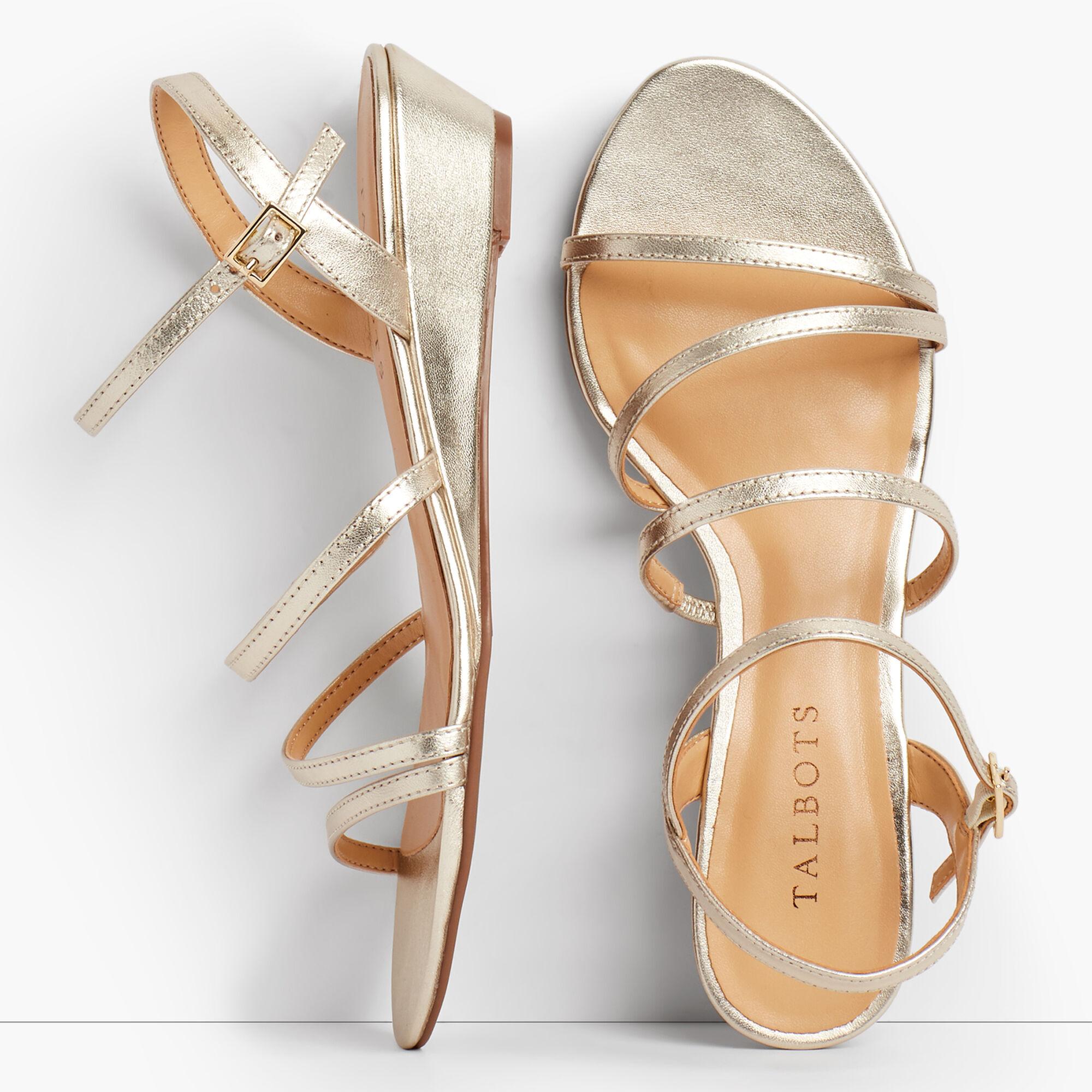 636aea22be5 Images. Capri Multi-Strap Mini-Wedge Sandals ...