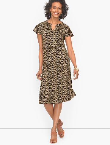 Jersey Fit & Flare Dress - Animal Print