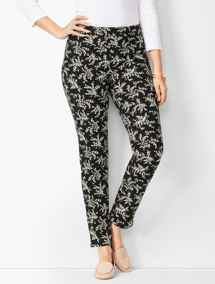 Talbots Chatham Ankle Pants - Petal Print - Curvy Fit