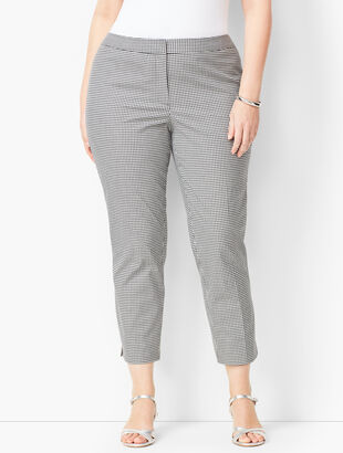 Plus Size Tailored Gingham Crops