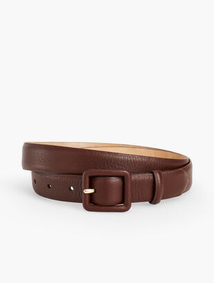 "Plus Size 1"" Soft Pebble Covered Buckle Belt"