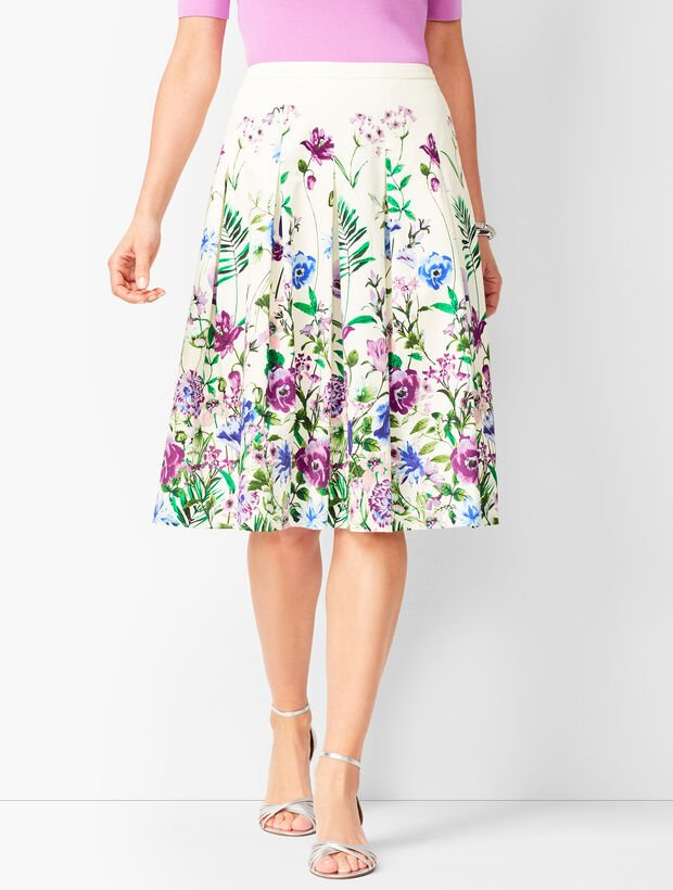 Pleated Garden Skirt
