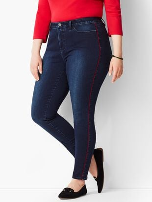 Comfort Stretch Piped Denim Jeggings