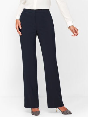 Stretch Crepe Wide Leg Pants - Curvy Fit
