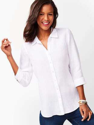 Button-Back Linen Tunic