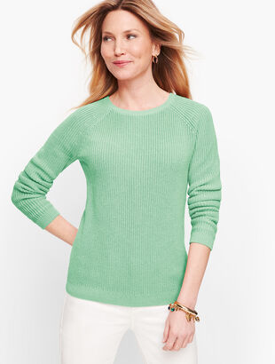 Pima Cotton Shaker Stitch Sweater
