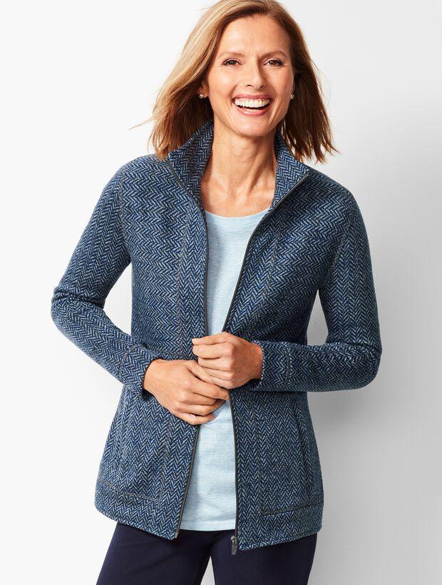 Textured Herringbone Jacket