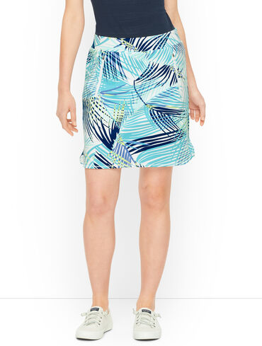 Everyday Stretch Painted Fronds Skort