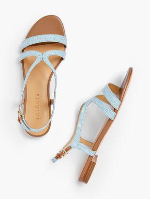 Keri Strap Sandals - Linen