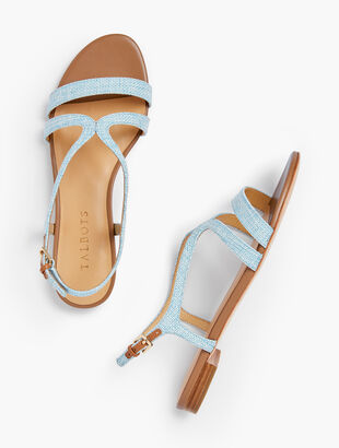 Keri Strap Sandals - Fabric & Leather