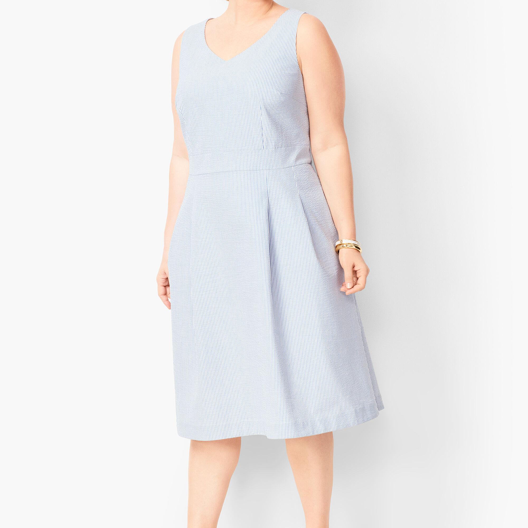 915553bed3 Lightweight Seersucker Fit & Flare Dress