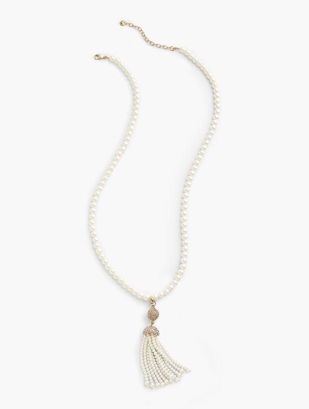 Pearl-Tassel Pendant Necklace
