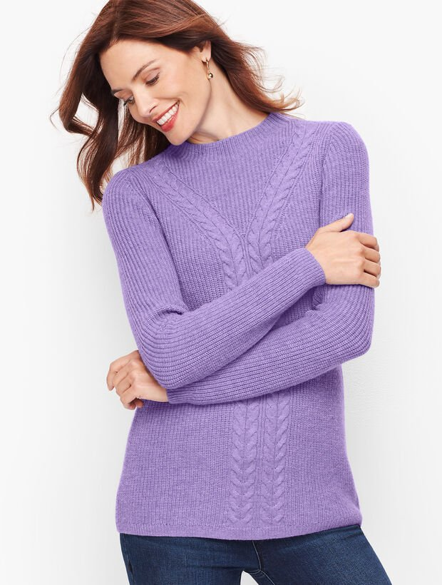 Cableknit Shaker Stitch Sweater