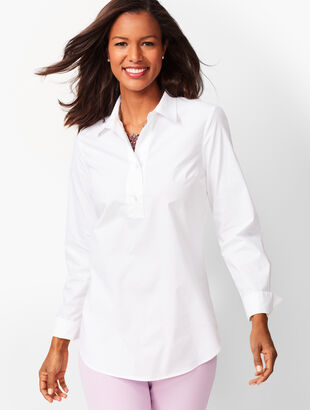Cotton Poplin Tunic - Solid