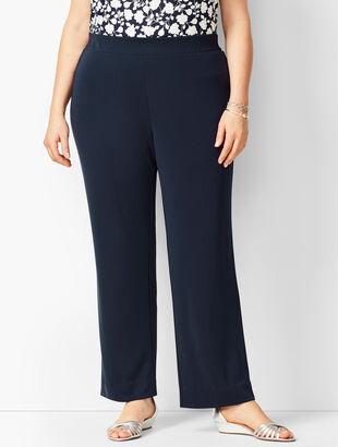 Knit Jersey Straight Leg Pants