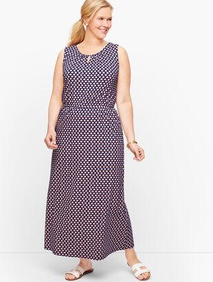 Jersey Maxi Dress - Daisy Print