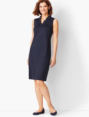 Feminine Knit Jersey Dress