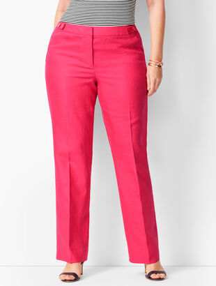 Talbots Windsor Linen Wide-Leg Pants - Curvy Fit