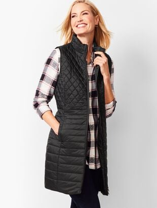 Long PrimaLoft®-Filled Puffer Vest
