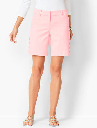 Button-Hem Shorts