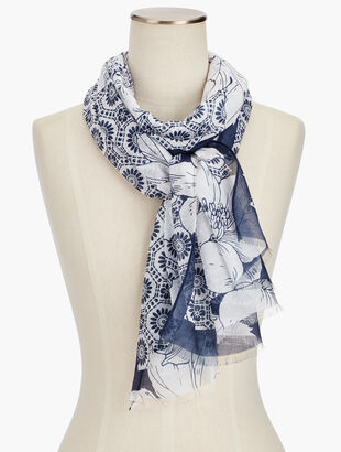 Tossed Flowers Scarf