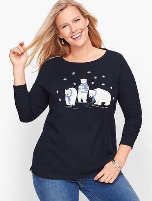 Embellished Polar Bear Tee
