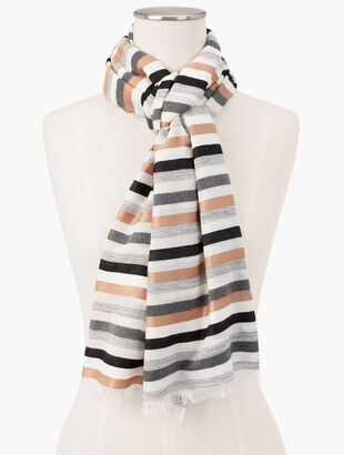 Stripe Neutrals Oblong Scarf
