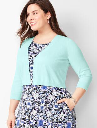 Plus Size Classic Dress Shrug - Solid