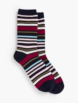 Indigo Multi Stripe Trousers Socks