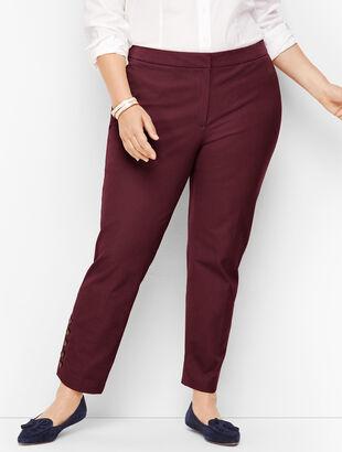 Plus Size Talbots Hampshire Button-Hem Ankle Pants