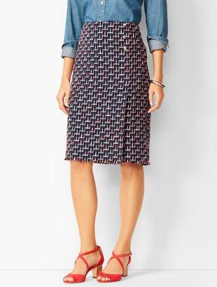 Bouclé Wrap Skirt