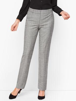 Luxe Glen Plaid Straight Leg Pants