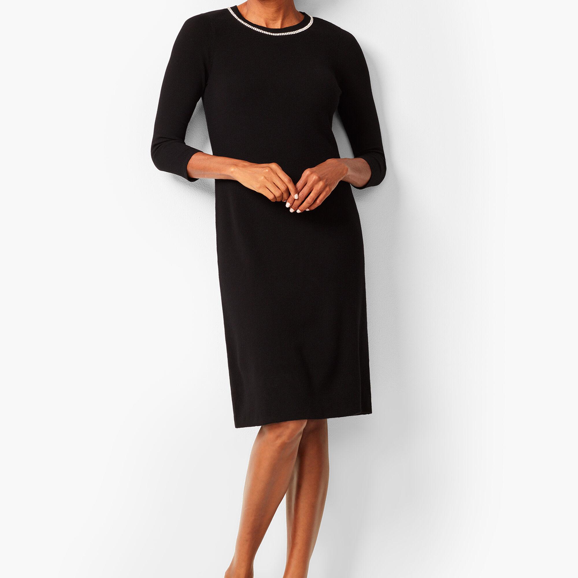 Diamanté-Trim Sweater Sheath Dress c8390d886