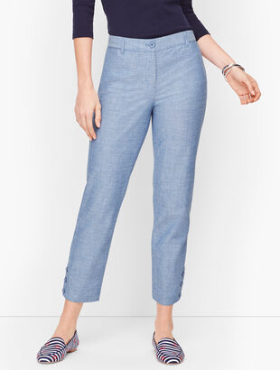 Perfect Crop Pants  - Curvy Fit - Chambray