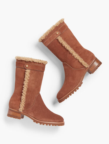 Tish Piped Suede Boots