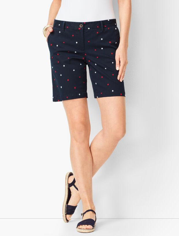 Girlfriend Chino Shorts - Embroidered