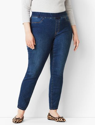 Plus Size Comfort Stretch Pull-On Denim Jeggings - Bayview Wash