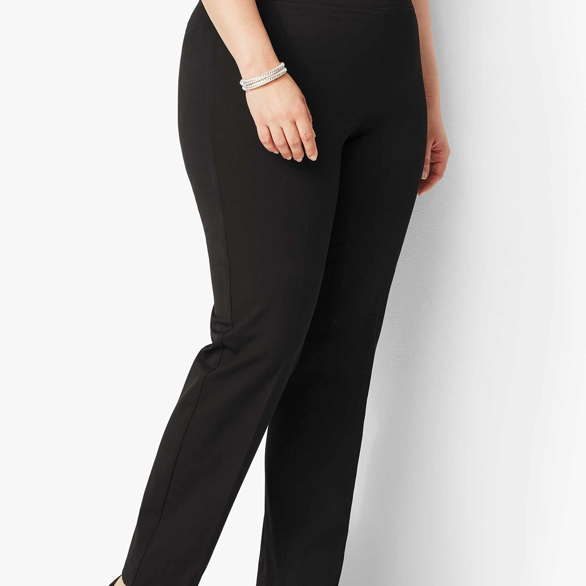 16dd4c3f07f Images. Plus Size Refined Bi-Stretch Pull-On Straight Leg Pant