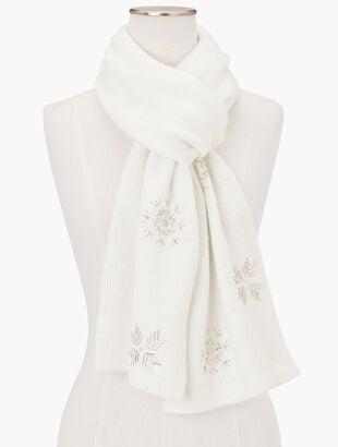 Snowflake Embellished Scarf