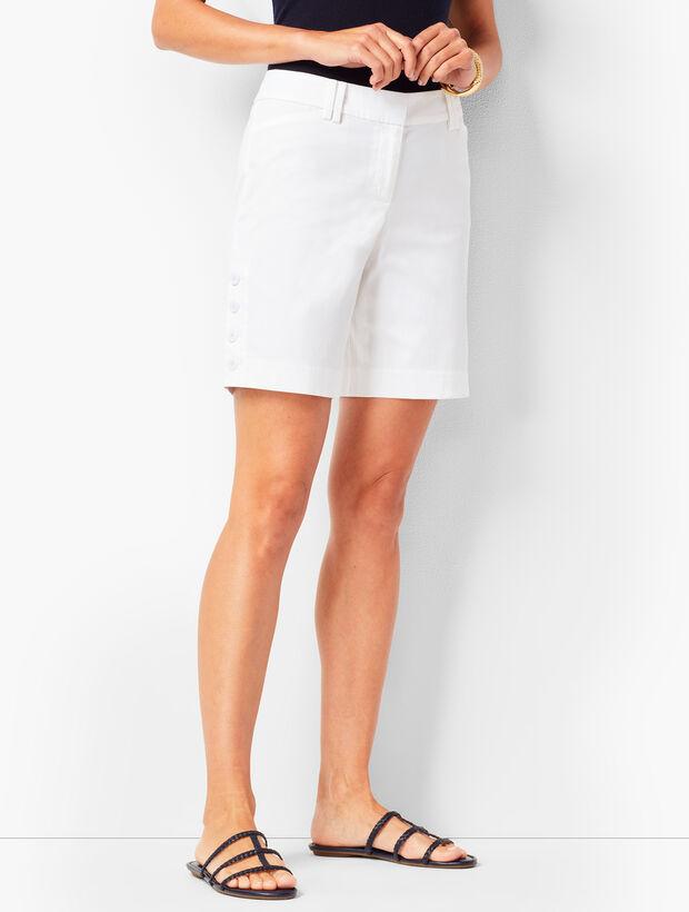 Button-Hem Shorts