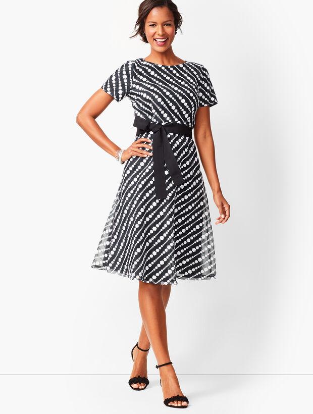 ead9bc819d6 Diagonal Lace Fit   Flare Dress
