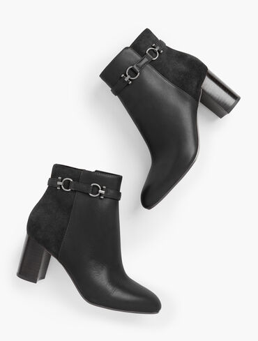 Simone T-Bar Leather Ankle Boots