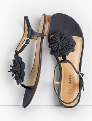 Keri Flower Sandals - Solid