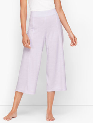 Brushed Mélange Culotte Pants
