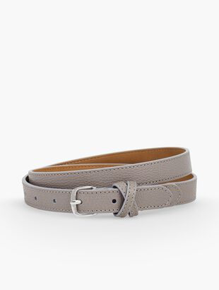 Plus Size Casual Skinny Pebble Leather Belt