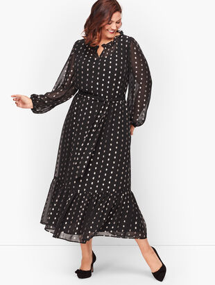 Clip Dot Shimmer Dress