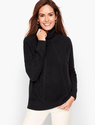 Cashmere Diamond Cable Sweater