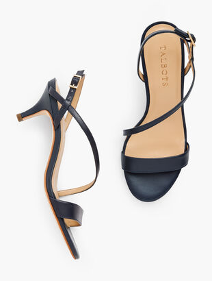 Pila Strappy Kitten Heel Sandals - Leather